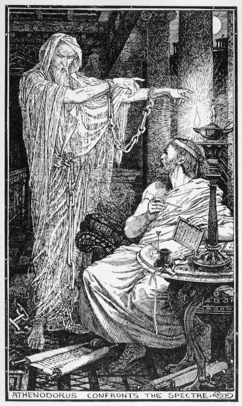 Henry Justice Ford, Athenodorus Confronts the Spectre. Illustrazione, 1900