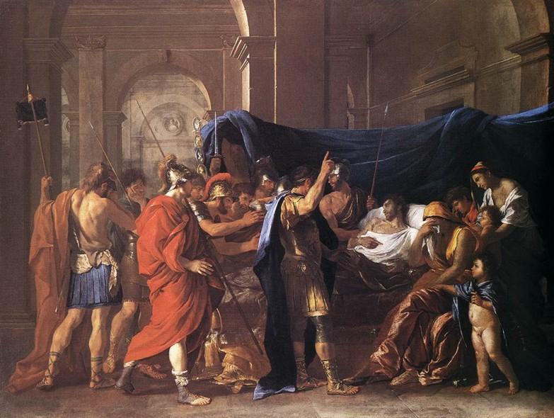 Nicolas Poussin, La Mort de Germanicus. Olio su tela, 1628. Minneapolis, Institute of Arts.