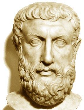 parmenide. testa, marmo, i sec. a.c. da velia