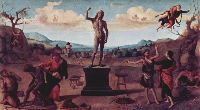 Piero di Cosimo, Il mito di Prometeo. Olio su pannello, 1515. Alte Pinakothek, München
