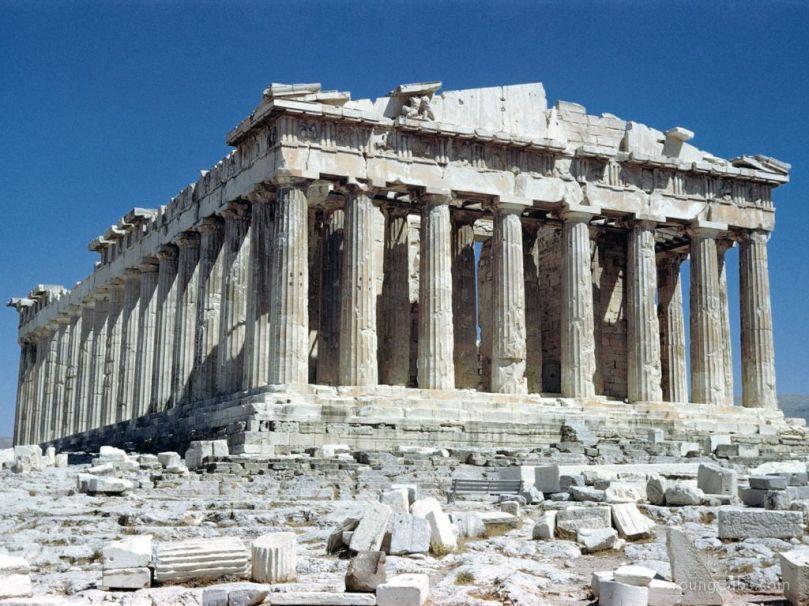 Tempio di Athena Parthenos (Partenone). Acropoli di Atene.
