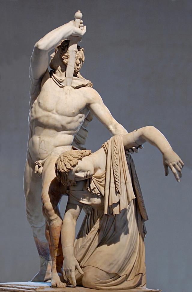 Il Galata suicida (o Galata 'Ludovisi'). Attribuito a Epigono. Statua, copia in marmo, 230-220 a.C. ca. Roma, Museo Archeologico Nazionale di P.zzo Altemps.