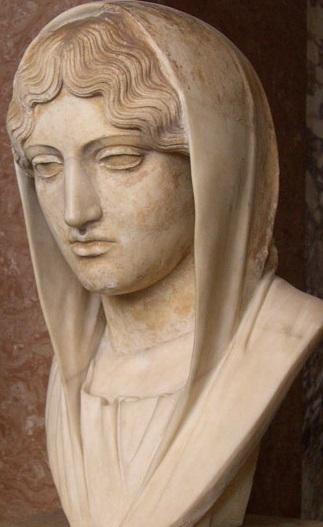 calamide. ritratto di elpinice, moglie di callia, in veste di «afrodite sosandra» - [Καλ]λίας [ἀνέ]θ