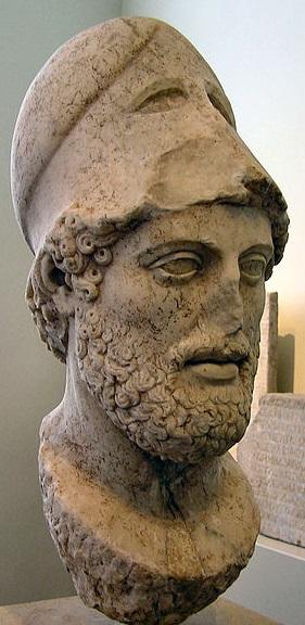 Pericle. Testa, copia romana del I secolo d.C. dall'originale attribuito a Cresila (429 a.C. ca.), da Lesbo. Berlin, Altes Museum.