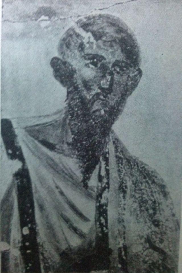 Paolo di Tarso. Affresco, fine III-inizi IV sec. d.C. Roma, Catacombe dei SS. Marcellino e Pietro