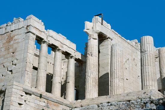 Propilei. Ingresso monumentale in stile dorico e ionico, 437-432 a.C. Atene, Acropoli